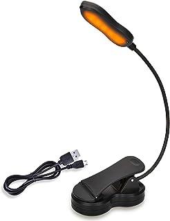 iGoober Amber Book Light, Rechargeable Blue Light Blocking Reading Light, Clip on Book Lamp, 3 Brightness Eye Care Sleep A...