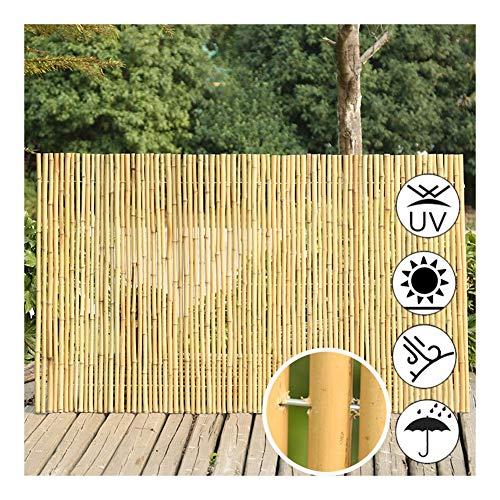 GDMING Cerca De Bambú Pantalla De Balcón Jardín Actualización 2020 Pantalla De Privacidad Al Aire Libre Decorativo Rústico Resistente Al Clima Arrollado, 2 Colores, 12 Tamaños