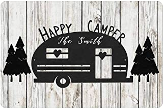 """Customize Your Own Personalized Camper Doormat 24"""" X 16"""" with Name Text Indoor Outdoor Making Memories One Campsite Welcom..."""