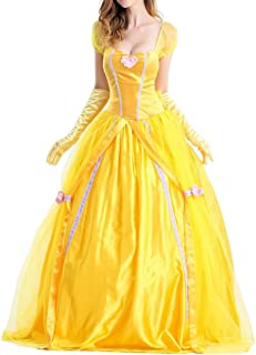 Uniarmoire Womens Belle Adult Princess Halloween Costume