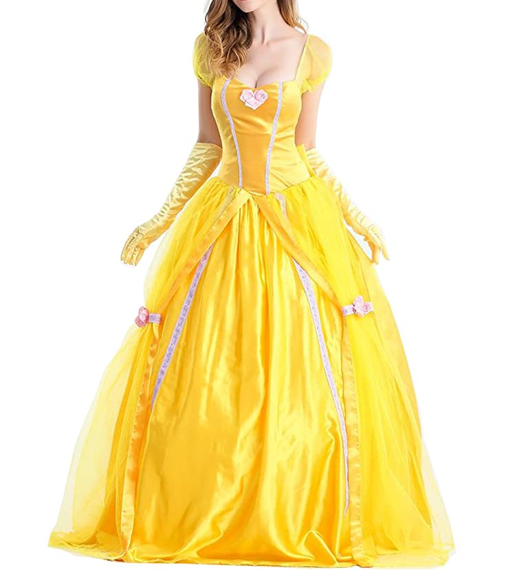 Uniarmoire Womens Belle Adult Princess Halloween Costume