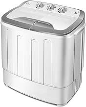 Giantex Portable Compact 13 Lbs Mini Twin Tub Washing Machine Washer Spin Dryer (Gray&White)
