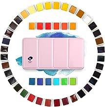 Colors Paul Rubens Artist Grade Watercolour Solid Cakes Travel Pocket Set Gouache Painting Paint with Metal Box Case 48 Co...