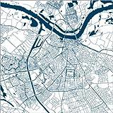 Poster 100 x 100 cm: Stadtplan von Nijmegen von 44spaces -