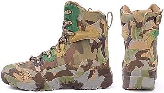 JRYⓇ Botas para Hombre - Botas Militares Impermeables Comando al Aire Libre Botas tácticas del Desierto Botas de Combate B...