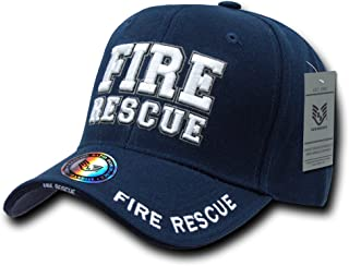 Rapid Dominance Unisex Adult Deluxe Embroidered Law Enforcement Caps - Fire Rescue
