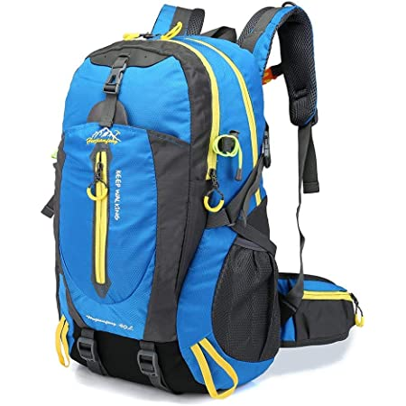 Lixada 40L Resistente al Agua Mochila, Portátil Mochila Trekking, Laptop Daypack, Durable Impermeable, para Escalada, Viajes, Actividades al Aire ...