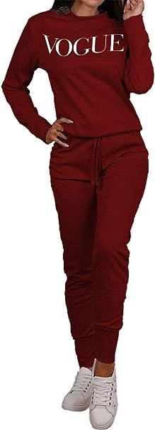 Womens Vogue Print Top Bottoms Loungewear 2 Pcs Co-Ord Set Fleece Tracksuit 8-12