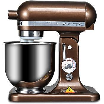 WOJSW Amasadora Repostería 500W Multifunción Robot Alimentos, 7L Tazón Acero Inoxidable / 8 Engranajes Control De Velocidad/para Cocinar En Casa Y En La Tienda: Amazon.es