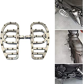 Goldfire 1 Pair Wide MX Offroad 360° Roating Chopper Bobber Style Male Mount Foot Pegs Footrest Board Floorboard Suit For Harley (Chrome)