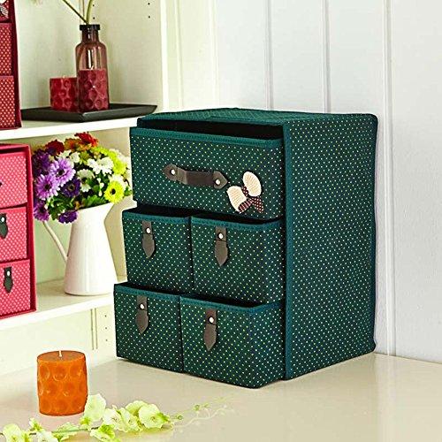 Boîte de rangement / Type de tiroir / Sous-vêtements / Chaussettes / Soutien-gorge / Boîte de finition / Bureau pliable / Boîte de rangement - Vert