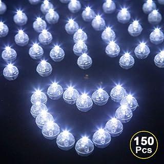 LED Balloon Lights, JJGoo 150pcs Round Led Mini Tiny Led Balls for Paper Lantern Balloon Birthday Party Wedding Decoration