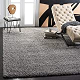 Safavieh California Premium Shag Collection SG151-7575 2-inch Thick Area Rug, 8' x 10', Silver