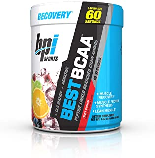 BPI Sports Best BCAA - BCAA Powder - Branched Chain Amino Acids - Muscle Recovery - Muscle Protein Synthesis - Lean Muscle - Improved Performance � Hydration � Fruit Punch - 60 Servings - 1.32 Pound