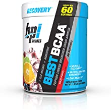BPI Sports Best BCAA - BCAA Powder - Branched Chain Amino Acids - Muscle Recovery - Muscle Protein Synthesis - Lean Muscle - Improved Performance – Hydration – Fruit Punch - 60 Servings - 1.32 Pound