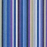 Outdoorstoff/Markisenstoff Teflon beschichtet Streifen blau