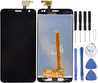 DESHENG Spare Parts LCD Screen and Digitizer Full Assembly for Alcatel One Touch Idol Mini / OT6012 / 6012 / 6012A / 6012D / 6012W / 6012X(Black) (Color : Black)
