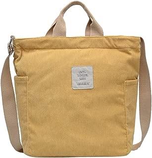 Bageek Women Shoulder Tote Vintage Crossbody Bag Corduroy Top Handle Bag for College