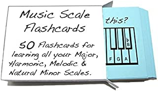 Musical Scale Names Flashcards - Learn or Teach All Your Major, Harmonic Melodic & Natural Minor Scales