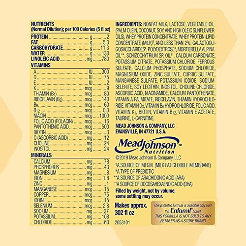 Enfamil Infant Formula, Milk-based Baby Formula with Iron, Powder Can, 21.1 Oz (Pack of 4)