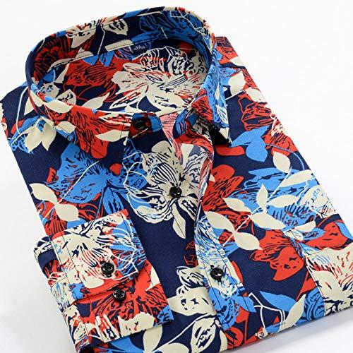 Camisa Camisa de manga larga estampada de primavera y otoño Camisa clásica de flores de moda para hombres 13 Elección de color se aplica al trabajo de negocios o al uso diario etc.-226097_5XL-45