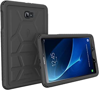 Tab A 10.1 Case, Poetic TurtleSkin Heavy Duty Protection Silicone Case with Sound-Amplification feature for Samsung Galaxy Tab A 10.1 (2016) – Black [NOT COMPATIBLE WITH THE SPEN MODEL]