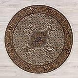 Lifetex.eu Teppich Bidjar ca. 200 cm rund Braun handgeknüpft Schurwolle Klassisch hochwertiger Teppich