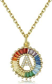 Sponsored Ad - SISMIURRA Initial Necklace for Women, 18K Gold Plated Copper or Sterling Silver A-Z 26 Letter Pendant Neckl...