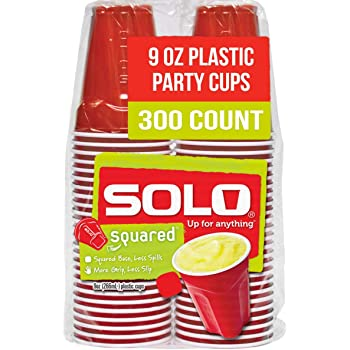 Solo Cup Small Red Plastic Party Cups, 9 Ounce, 300 Count