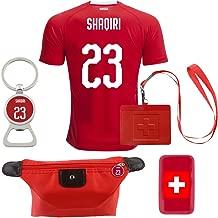 EE bestort Switzerland #23 Shaqiri 2018 Home Mens Soccer Jersey Color Red (Small)
