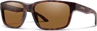 نظارة سميث بيس كامب 0N9P/L5 58 مم بلون هافانا/بني كرومابوب مستقطبة مستطيلة للرجال + مجموعة نظارات مجانية