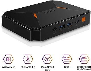 CHUWI HeroBox Windows 10 Mini PC,Intel Gemini-Lake N4100 Quad-Core processor,8GB DDR4 180GB SSD,Expandable 2TB 2.5 Inch HDD,1TB SSD with 2.4GHz/5GHz Dual WiFi 1000Mbps/BT4.2