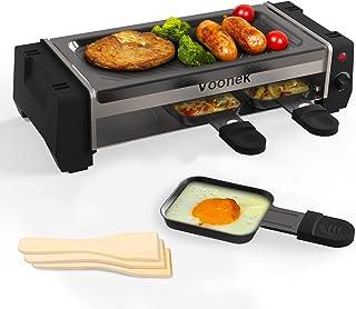 Raclette 2 Personnes Appareil a Raclette Machine Service à Raclette 3 Spatule 3 Poêlons Grill Electrique Grill BBQ Thermos...