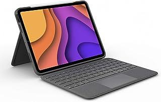 جراب لوحة مفاتيح Logitech Folio Touch iPad (الجيل الرابع) مع لوحة تتبع وموصل ذكي لجهاز iPad Air (الطرازات: A2316 - A2324 -...