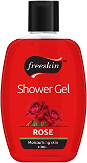 Freeskin Rose Body Wash Shower Gel 400ml, Combatant for Acne, Redness, and Inflammation, Suitable for All Skin Types