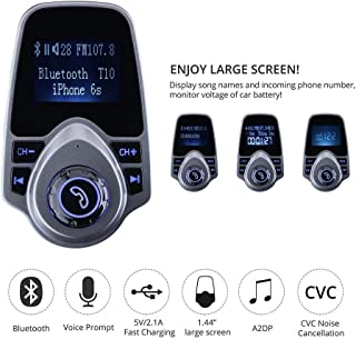T10 Bluetooth Wireless Transmitter Car Kit MP3 Player 3.5mm In-car FM Transmitter For All Smartphone
