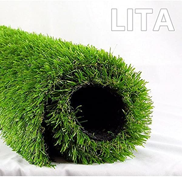 LITA 7ft X 13ft Realistic Deluxe Artificial Grass Synthetic Thick Lawn Turf Carpet Perfect For Indoor Outdoor Landscape 7 X13 Green