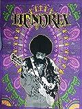 Indian Craft Château Icc Jimi Hendrix Guitare Poster 30 x 40 Décoration Jimmy Hendrix Rock Classique Legend Musique Psychédélique de Bohème Hippie Tapisserie (Hendrix) Violet