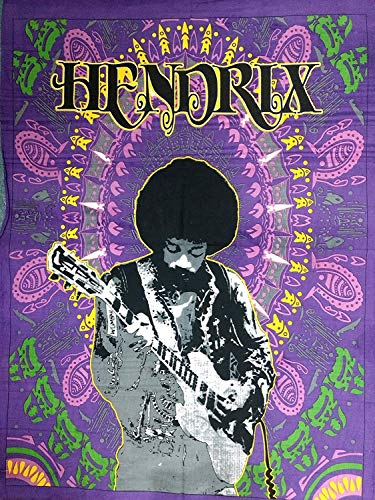 ICC Jimi Hendrix - Póster de guitarra (30 x 40 cm), diseño de Jimmie Hendrix, leyenda clásica del rock musical, bohemio, psicodélico, hippie, color morado