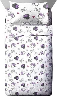 Minnie Mouse Logo Girls Twin Bedding Sheet Set