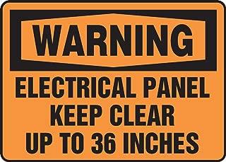 Accuform MELC309VS Adhesive Vinyl Safety Sign, Legend