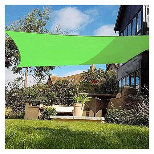 GAOYUY Toldo Vela De Sombra, Toldo De Protección Solar para Fiestas En El Patio del Jardín Al Aire Libre Tejido Oxford De Poliéster 300D Verde para Fiesta En El Patio del Jardín Al Aire Libre