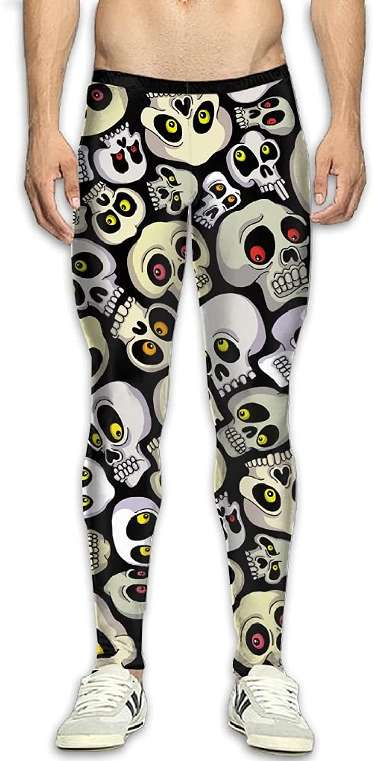 Skull Scar Men's Fitness Compression Pants Sports Leggings Tights Baselayer Yoga Trousers
