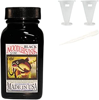 Noodler's Black Waterproof Fountain Pen Ink - Bulletproof,3 ounce With 2pcs ink container (1)