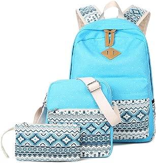 Canvas Dot Backpack Cute Teen Girls Backpacks Set 3 Pcs School Bookbags
