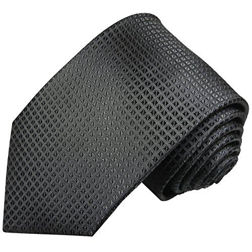 Schwarze Krawatte 100% Seidenkrawatte