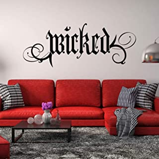 gayerb Peel and Stick Removable Wall Stickers Wicked Wall Decal Quote Halloween Decor Gothic Goth