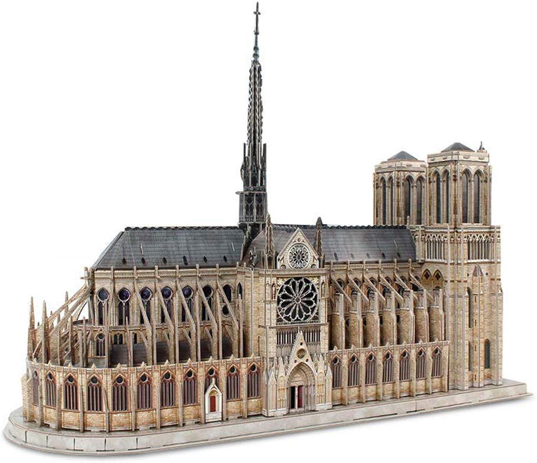 OOFAY Notre Dame Cathedral 3D Metallmodell, 3D Puzzle zum Gedenken des Feuers an Notre Dame Adult Craft Set-Unique Geschenk für Jugendliche und Erwachsene
