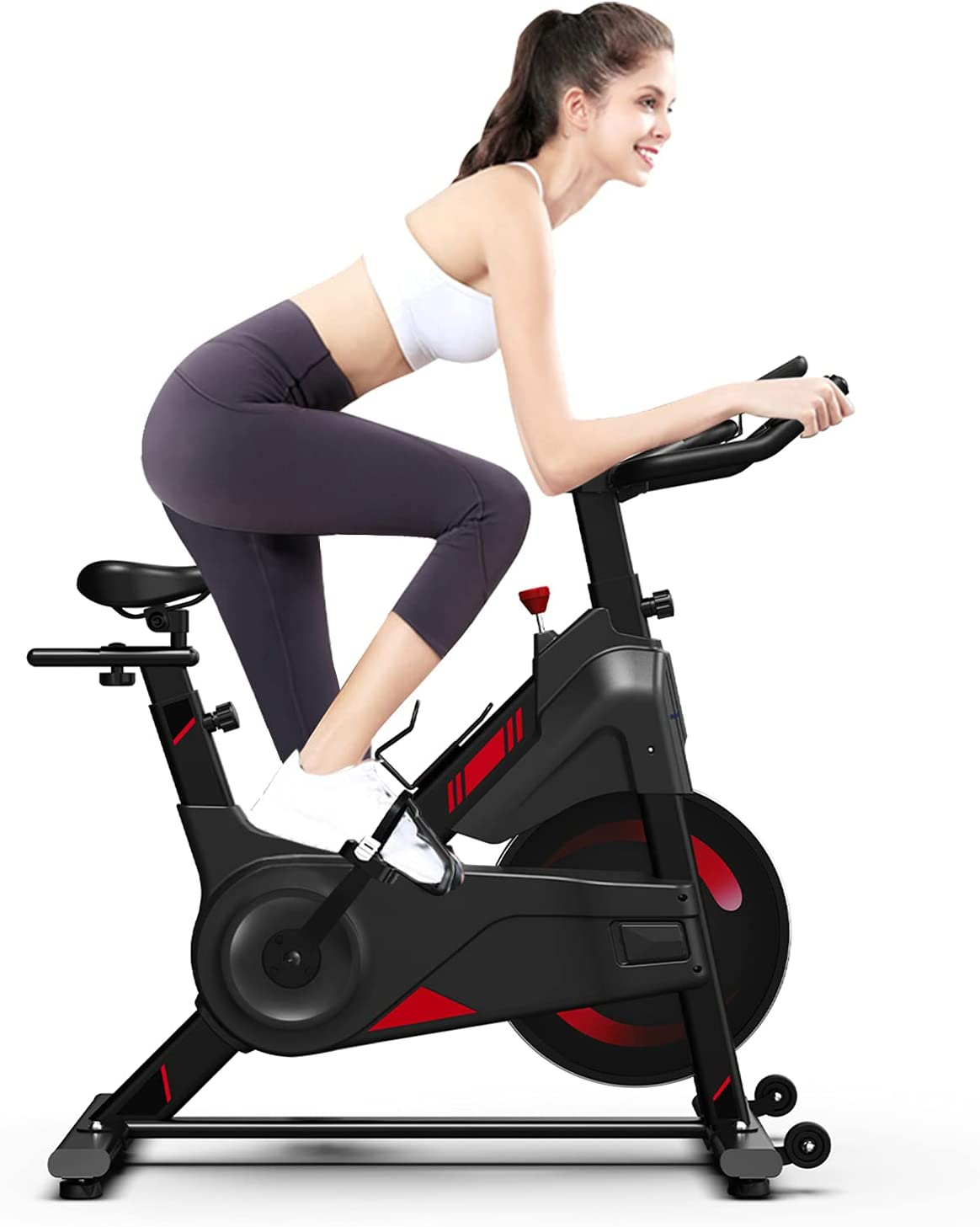 OUNUO Magnetic Resistance Exercise Bike Versi 1 year warranty online shop Upgraded 2021 New