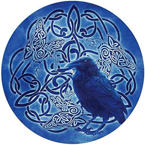 Celtic Raven Totem - Circular Bumper Sticker/Decal (4.5' x 4.5')
